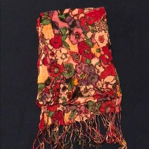 Accessories - Multicolored Floral Scarf